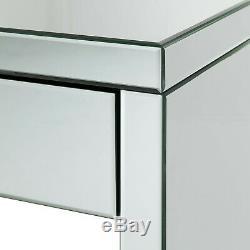 Console De Verre En Miroir Coiffeuse Tiroir Hollywood Chambre Crystal Living