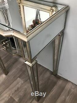 Console Mirrored Coiffeuse Meuble Tv 2 Meubles En Verre Tiroir Vénitien Accueil