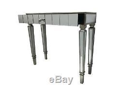 Console Mirrored Table / Bureau / Coiffeuse Chambre Maison Verre Mince Pour Stockage
