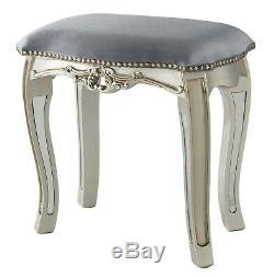 Console Table Et Mirrored Velvet Tabouret Ensemble Chambre Dressing Verre Antique Vintage