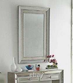 Console Table Miroir Miroir Salle Dressing Mock Croc Meubles Mur En Verre