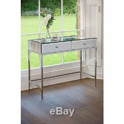 Console Table Mirrored Hall D'entrée Meubles Vénitien Coiffeuse Tiroirs De Rangement