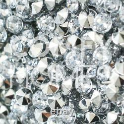 Crushed Crystal Mirrored Velvet Dressing Table Grande Livraison Sans Tabouret