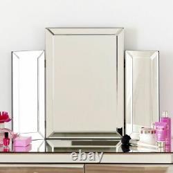 Cuisine Compacte Miroirie Vénitienne Avec Miroir Et Tabouret Blanc Ven16-05w-39
