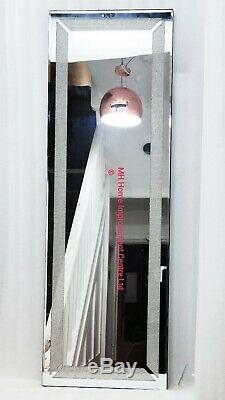 Design Crystal Hall D'entrée Argent Discret Étincelle Cadrage En Pied Dressing Miroir Mural