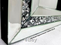 Diamant Crush Cristal Argent Pansement Sparkly Cadrage Mur Miroir 120x40cm