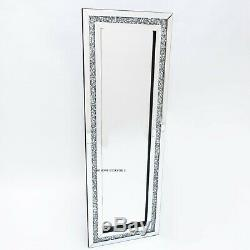 Diamant Crush Cristal Argent Pansement Sparkly Cadrage Mur Miroir Glitz