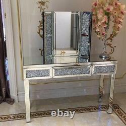 Diamant Écrasé 60x80cm Dressing Table Mirror Vanity Mirror Meubles De Chambre À Coucher
