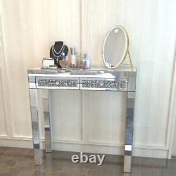 Dressing En Verre Miroir Mousseux Console Hallway Double Tiroir Dressing