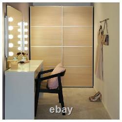Dressing Ikea Malm Flambant Neuf (blanc -120x41cm) Haut En Verre À Plat Robuste