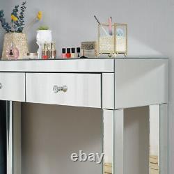 Dressing Miroir Table Vanity Dresser Console Chambre Tabouret Miroir Maquillage