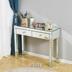 Dressing Table Bedroom Makeup Furniture Mirrored Console Corner Lines Sculpture