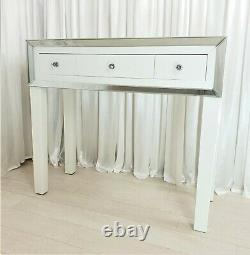 Dressing Table Glass White Mirrored Vanity Table Puro Premium Plus Console Desk