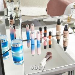 Dressing Table Miroir Vanity Tabouret De Maquillage Dresser Set Console De Chambre À Coucher En Verre Royaume-uni
