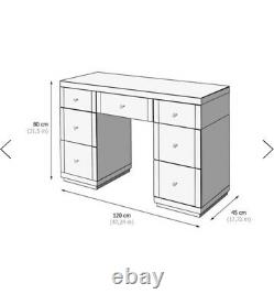 Dressing Table Mirrored Glass Vanity