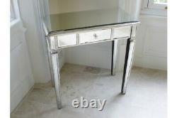 Dressing Vénitien Miroir À Tiroir Simple Argent / Table Latérale