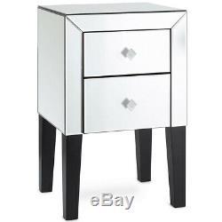 Embellissez Mirrored Meubles Chambre Coiffeuse Ou Table De Chevet Table De Chevet