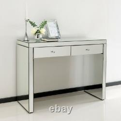 Ensemble De Table De Chambre À Coucher Miroir De Luxe Accueil Vanity Dresser Console Argent