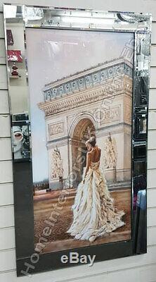 Figuratif / Dame Images Décor Avec Art Liquide, Cristaux Et Cadres De Miroir