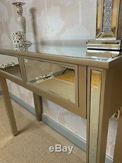 Géorgie Champagne Or Garniture Verre Mirror 2 Console Tiroir Salle Coiffeuse