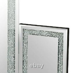 Glam Diamond Crystal Dressing Table Mirror Glitz Dressing Table Vanity Make-up
