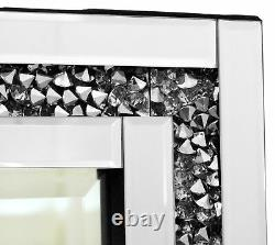 Grand Gatsby Beautiful Dressing Table Mirror All Glass Crystal Edge Design