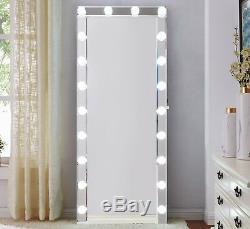 Grand Hollywood Lumière Miroir Mur En Verre Vinaigrette Make Up Grand Haut-parleur Bluetooth