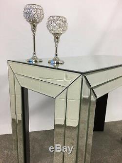 Grande Console De Verre En Miroir Écran De Salle Coiffeuse Pleine Assemblé