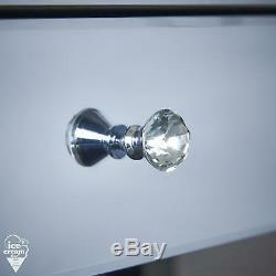 Gris Mirrored Coiffeuse Tiroir Cristal Poignée Pour Chambre De Stockage De Bijoux