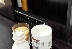 Hobson Mirrored Coiffeuse Set De Bureau Commode De Maquillage Tiroirs Et Tabouret Espresso