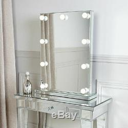 Hollywood Classic 9 Led Light Up Dimmable Ampoules Coiffeuse Miroir
