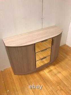 John Lewis Dressing Table En Verre Miroir Tiroir Poitrine Courbé