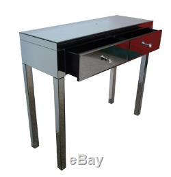 Lansbury Verre Mirrored Coiffeuse, Table Vanity, Bureau Console Au Royaume-uni