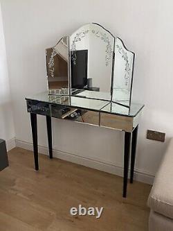 Laura Ashley Venitian Console / Dressing Table Et Miroir À 3 Sens