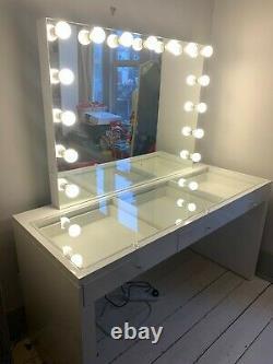 Lullabellz Slaystation Dressing Table + Miroir Hollywoodien Avec Lumières XL
