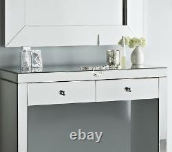 Luxe 90cm Glass Mirror Hall Chambre Miroir Dressing Table Chic Vanity Unit