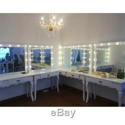 Maquillage Blanc Coiffeuse Avec 10 Ampoules 1 Tiroir Hollywood Miroir