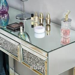 Maquillage Coiffeuse Console Cristal Mirrored Entrée Bureau En Verre Affichage Chambre