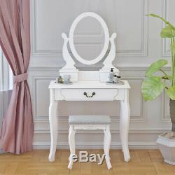 Maquillage Coiffeuse Tabouret Miroir Dresser Vanity Set Bedroom Furniture Options