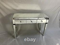 Marque New Classic Mirrored Console 3 Tiroirs / Coiffeuse