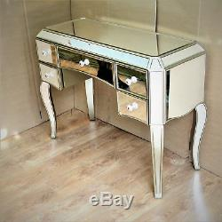 Meubles Anciens Tiroirs En Verre D'argent Vintage Mirrored Table Vénitienne Vinaigrette