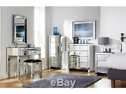 Meubles Mirrored Chambre Collection Verre Coffre Tiroirs Coiffeuse Range
