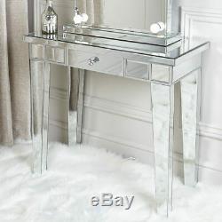 Miroir Classique En Verre Contemporain Vénitien 1 Console Tiroir Salle Coiffeuse