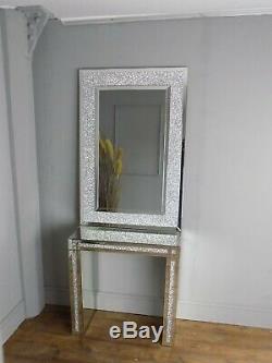 Miroir De Cristal Rectangulaire Et Une Table Console Salle De Vie Chambre Habiller (380)