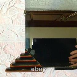 Miroir De Table De Dressing De Vanité D'auto-position Art Déco Avec Les Jambes Intensifiées Et Le Finial