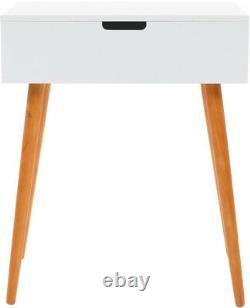 Miroir Dressing Table Rangement Bijoux Cosmétiques Chambre Maquillage Femmes Meubles