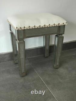 Miroir Dressing Table Set Vanity Mirror Tabouret Meubles Chambre Vénitienne