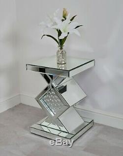 Miroir Meubles Flottant Cristal Chambre Coiffeuse Chevet Tiroirs Meuble Tv