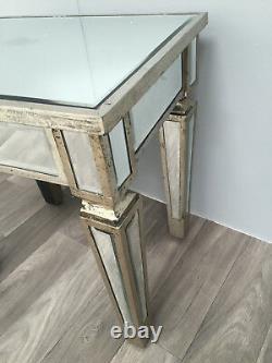 Miroir Vénitien Dressing Table Stool Bedroom Silver Wood Furniture