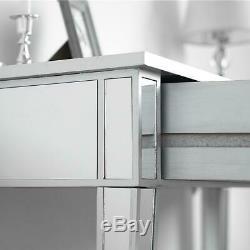 Mirror 2 Tiroirs Coiffeuse Bureau Chambre Meubles Dresser